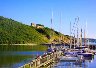 Bornholm-Allinge-Hafen-Festung Hammersus-Dänemark-Ostsee