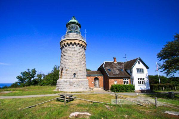 Hammerknudden - Hammeren fyr - Dänemark-Leuchtturm-Meer--Ostsee