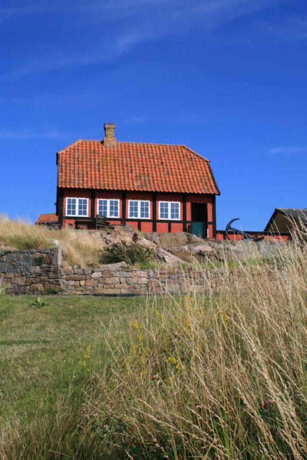 Bornholm-Dänemark-rotes-Haus-Gudhjem