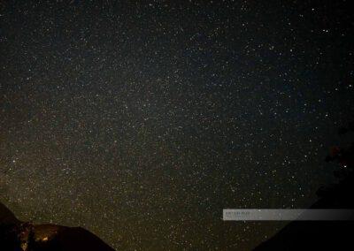 Valle del Elqui am Abend mit sehr vielen Sternen am Himmel