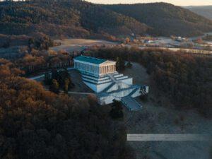 Deutschland-Regensburg-Walhalla-Drohne-7