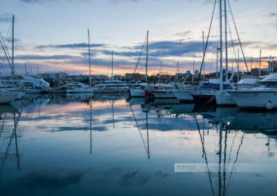 Frankreich- Antibes - Hafen - Port Vauban - Abendlicht - Côte d' Azur - Mittelmeer - Südfrankreich