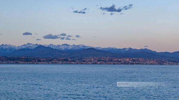 Frankreich- Antibes - Wanderung - Cap d' Antibes - Côte d' Azur -Mittelmeer – Blick auf Nizza - Seealpen