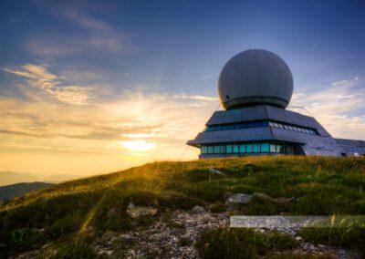 Radarstation auf dem Grand Ballon in den Vogesen