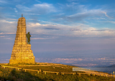 Monument des Diables bleus auf dem Gipfel des Grand Ballon