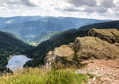 Ausblick an der Route des Crêtes in den Vogesen