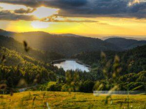 Sonnenuntergang in den Vogesen an der Route des Crêtes