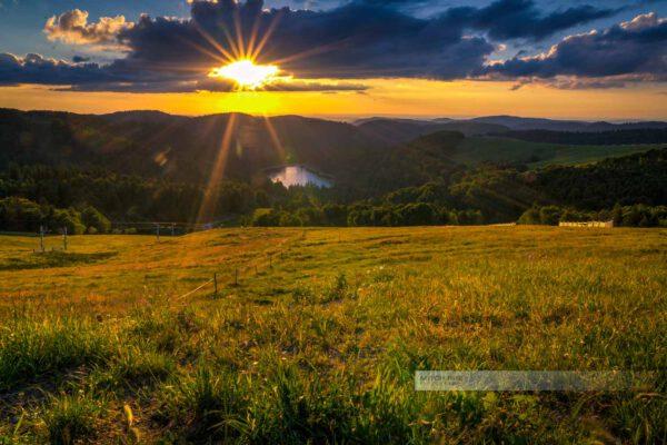 Sonnenuntergang zwischen Hohneck und Grand Ballon
