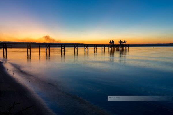 San Bernadino in Paraguay. Wunderbare Natur in traumhafter Landschaft. Sonnenuntergang am See. Nahe der Hauptstadt