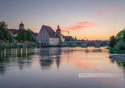 Regensburg - Sonnenuntergang an der Donau