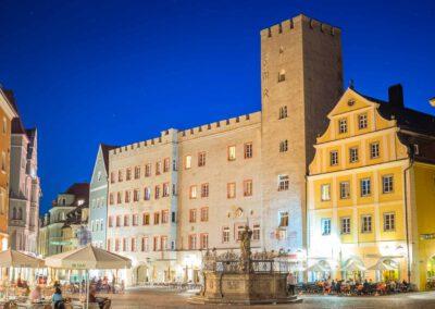 Patritzierhaus am Haidplatz in der Altstadt von Regensburg