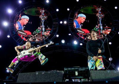 Flea und Anthony Kiedis der Band Red Hot Chili Peppers live bei Rock im Park