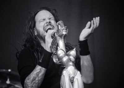 Jonathan Davis, Sänger der Band Korn bei einem Konzert in Luxemburg